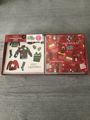 George Home Handcrafted Christmas Cards - Pack Of 12  • 4.99£