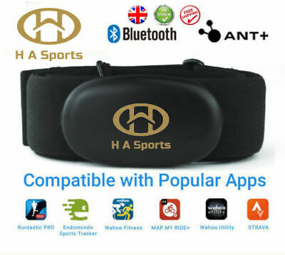 £19.99 • Buy Dual Band ANT+Bluetooth 4.0 Garmin Compatible HRM Heart Rate Monitor Chest Strap