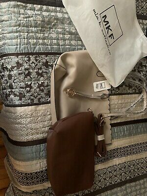 $ CDN48.37 • Buy New W/Tags MKF Collection By Mia K. Farrow Cream And Brown Matching Bags