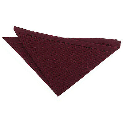 Cabernet Red Mens Pocket Square Handkerchief Hanky Knit Knitted Plain By DQT • 5.99£