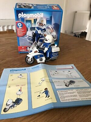 Playmobil 4262 Police Motorcycle And Police Person - 100% Complete • 3.99£
