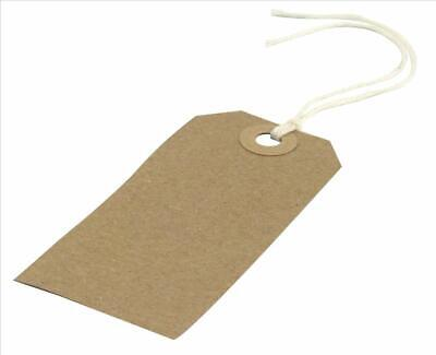 Manilla CARD LUGGAGE Gift TAGS ON STRING Tie On Labels Travel Suitcase Bag • 1.29£