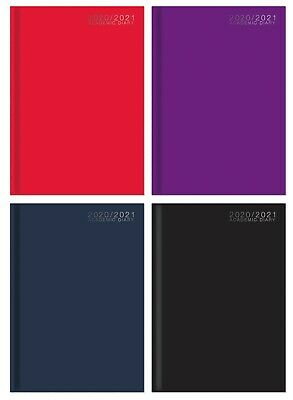 2020-2021 A4 Academic Diary Week To View HB Case Bound Mid Year Student Diary • 4.49£