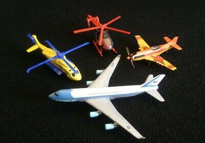Collection Of 4 Diecast Aircraft Planes & Helicopters Matchbox • 7.90£