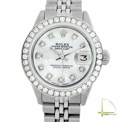 $ CDN4697.99 • Buy Rolex Lady Datejust 26mm Stainless Steel Watch White MOP Diamond Dial And Bezel