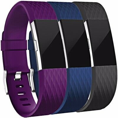 AU6.99 • Buy For Fitbit Charge 2 Bands,Soft Silicone Replacement Band For Fitbit Charge 2