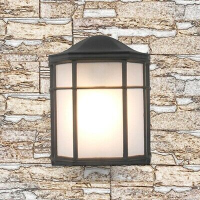 Vintage Outdoor Exterior Half Lantern Wall Porch Up Light Black Security  Decor • 9.99£