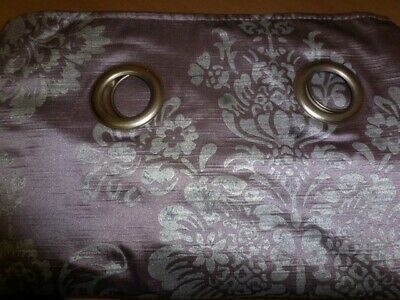 NEXT Ring Top Eyelet CURTAINS 66 X 90 Inch Long Silver Lilac/Grey - Second Set • 7.50£