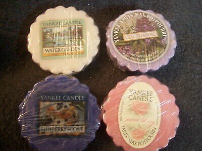 Yankee Candle Wax Tarts ,water Garden,lilac Blossoms,blueberry Scone,roses & Ivy • 7.99£