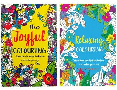 A4 Adult Colouring Book Relaxing Colour Therapy Pack Of 2 Books Ideal Gift Set  • 3.49£