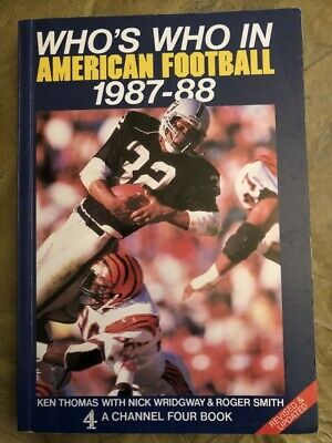 Who's Who In American Football 1987-1988 - Good Condition • 2.50£