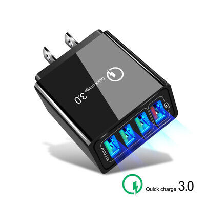 AU7.19 • Buy AU_ KF_ Home Travel 4 USB Ports QC 3.0 Wall AC Fast Charger Adapter For Phone Ta