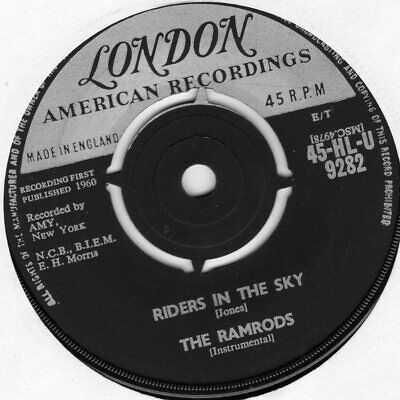 The Ramrods.....riders In The Sky....london...uk...45 • 1.10£
