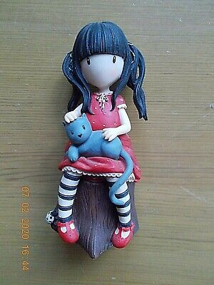 SANTORO GORJUSS RUBY A26473 FIGURINE GIRL WITH CAT 4  Tall ENESCO VGC • 75£