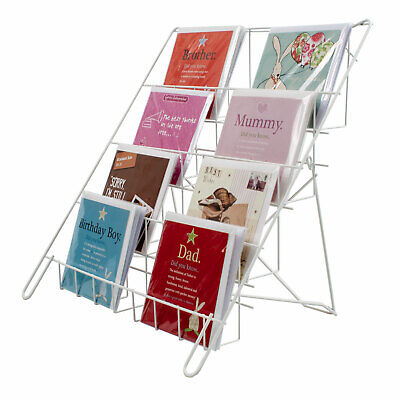 £21.98 • Buy Greeting Card Display Foldable Lightweight Collapsible Shop Stand In White (E8W)