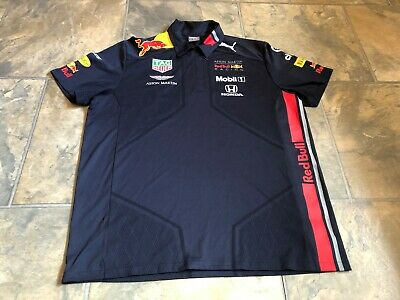 EX Team Kit 2019 Aston Martin Red Bull Racing F1 Polo Shirt Original EUR X Large • 30£