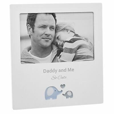 £9.99 • Buy White 6' X 4' Photo Frame With Cut Out Design - Daddy And Me