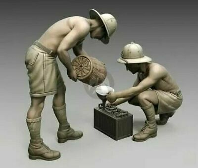 1:35 British Infantry North Africa Set 2 Pcs Scale Resin Figure • 16.84£