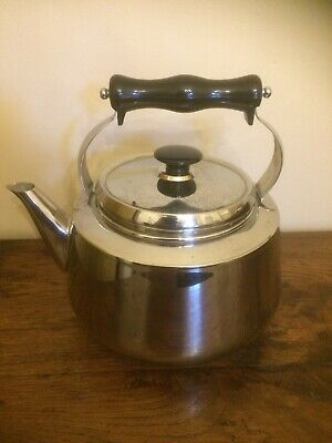 Fabulous Traditional Stainless Steel AGA Stove Top Kettle • 49£