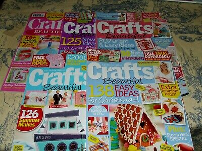 5 X Crafts Beautiful Magazines Issues 234/228/254/232/291 Vgc • 5£