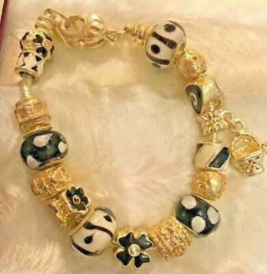 Gorgeous Black And White Bracelet Style By Inspirations SP • 35£