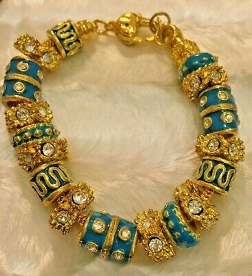Gorgeous Gold And Blue Bracelet Style By Inspirations GP • 35£