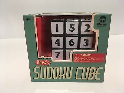 Wow Stuff Mensa 874041-24P Durable Sudoku Puzzle Plastic Cube - Black/White NEW • 10.25£