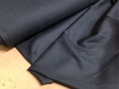 £8.99 • Buy Poly Viscose Wool Blend Suiting Fabric Airforce Blue Jackets 150cms Wide