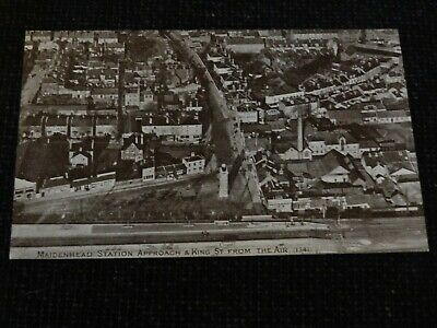 Maidenhead Station Approach & King Street From The Air Postcard Berkshire - 1992 • 8£