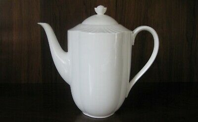 AN ARCO WEISS PORCELAIN CHINA WHITE COFFEE POT From VILLEROY & BOCH • 85£