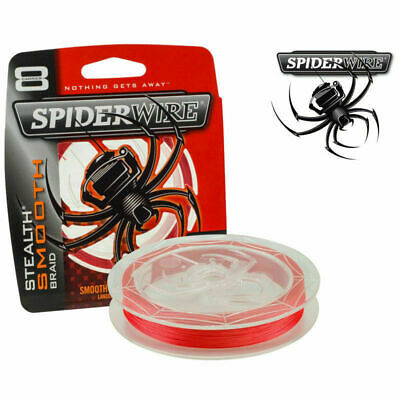 AU29.90 • Buy Spiderwire Stealth Braided Fishing Line 150m Or 300m Spool Braid - CODE RED