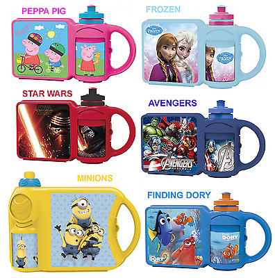 Combo Character Lunch Box And Sports Drink Bottle Set School Lunch Picnic • 6.98£