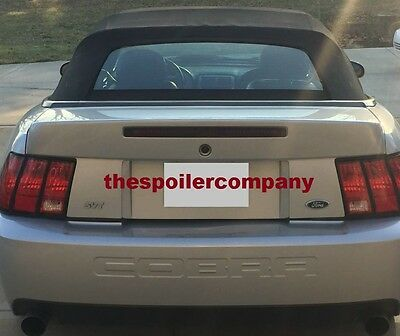 $249.88 • Buy  PRE-PAINTED COBRA Rear Spoiler-1999-2004 Mustang W/Opening For Light & Key Hole