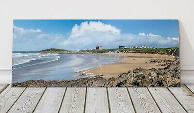 £24.95 • Buy Fistral Beach Panoramic Canvas Print Cornwall Framed Picture Newquay Famous Surf