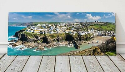 £19.95 • Buy Port Isaac Panoramic Canvas Print Cornwall Framed Picture Doc Martin