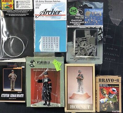 1/35, Various Items Resin Figures, Transfers And Tow Cables • 10.99£