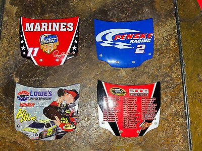 $3.50 • Buy NASCAR Lot 4- #2,#25,#11-AUTOGRAPHED,2008 Schedule STOCK CAR,REPLICA HOOD COVER,