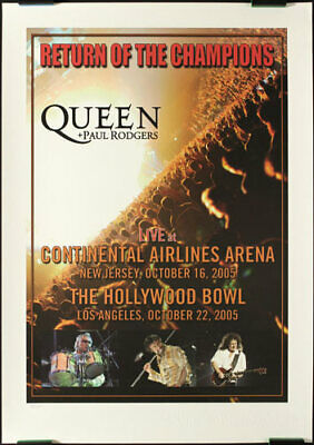 $39.99 • Buy Queen Return Of The Champions Limited Official Concert Poster Hollywood Bowl, NJ