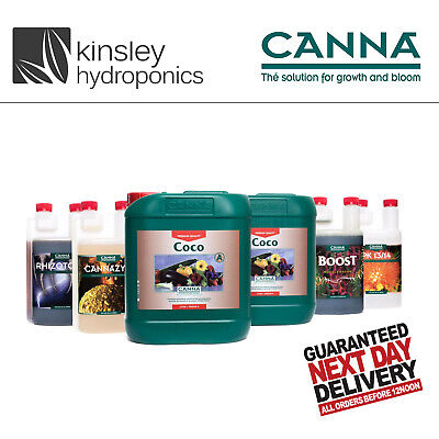 Canna All Products 250ml-1-5-10Litre-Rhizotonic Zym Boost PK Coco Aqua Flush Etc • 15.99£