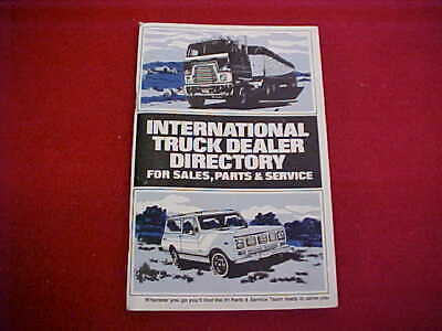 $19.99 • Buy 1976 International Truck Scout Dealer Directory Sales Parts Service Manual Book
