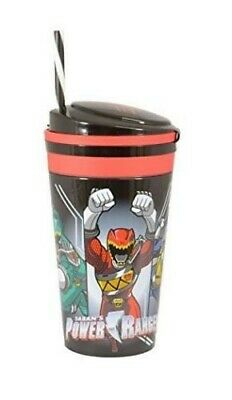 Official Power Rangers Childrens Plastic Travel Mug Drink Cup With Straw • 5.99£