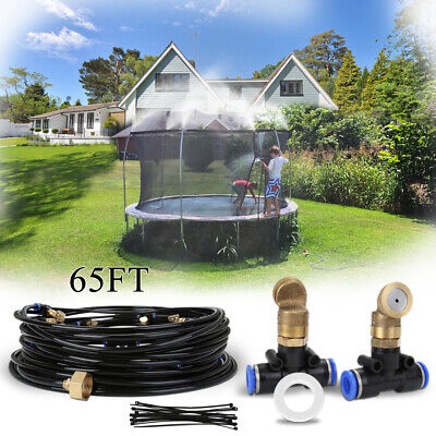 £64.79 • Buy 20M Water Mister Nozzles Misting System 15FT Trampoline Patio Garden Outdoor