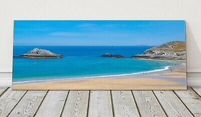 £24.95 • Buy Crantock Beach Low Tide Panoramic Newquay Canvas Print Cornwall Framed Picture