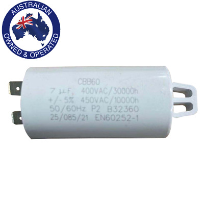 AU21.50 • Buy 7uF Start Run Capacitor 400/450/500V F&P Fisher & Paykel ED56 ED57 AD55 427906P
