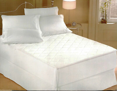 £9.25 • Buy New Quilted Mattress Protector Topper Extra Deep 30,cm Luxury Fitted Cover W/p