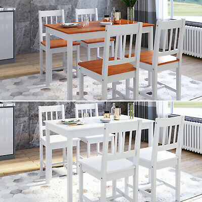 Dining Table And Chairs Bench Set 6 Seat Quallty Wooden Cholce Dining Room White • 62.03£