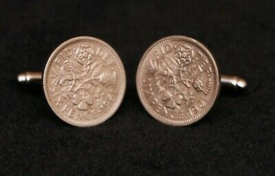 £3.95 • Buy Steampunk Cufflinks Mens UK Sixpence Coins