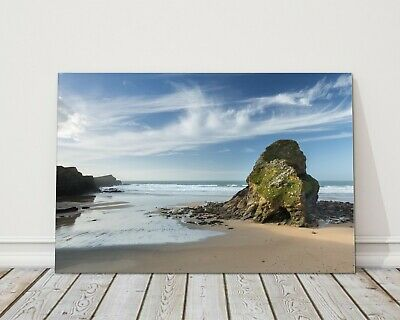 £13.95 • Buy Whipsiderry Beach, North Cornwall Print Framed Picture Porth Island Newquay