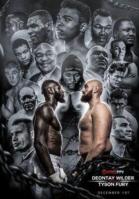 World Boxing Wilder V Fury Canvas Wall Art Picture Print ~ VARIOUS SIZES • 22.99£
