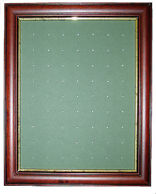 Golf Ball Marker Display Frame - For 63 Stem / Peg Markers - Dark Brown – Wall • 29.99£